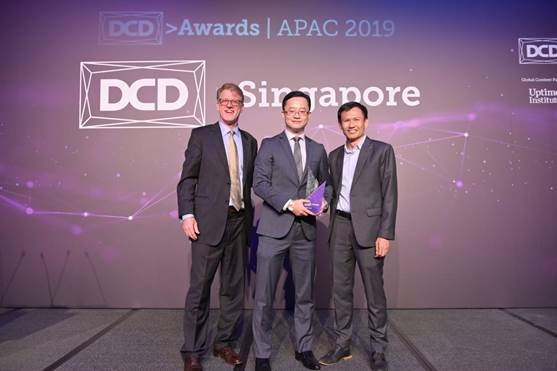 """Huawei Langfang Cloud Data Centre iCooling Project won the 'Energy Smart Award' at DCD Asia Pacific Awards 2019"""