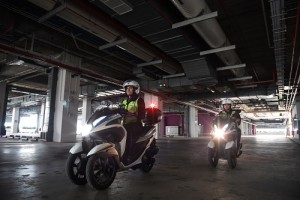 Roving officers patrolling Space@Tuas