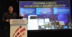 """Mr Boris Balacheff (HP Fellow & VP, Chief Technologist for Security Research and Innovation, HP Labs Security Lab) at ICCC 2019."""