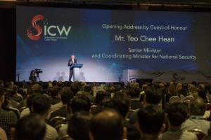 """Mr Teo Chee Hean (Senior Minister and Coordinating Minister for National Security) speaking at the SICW2019 Opening Ceremony.  Photo Credit: SICW 2019"""