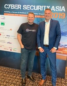 Chris Cubbage with Dr. Mark van Staalduinen