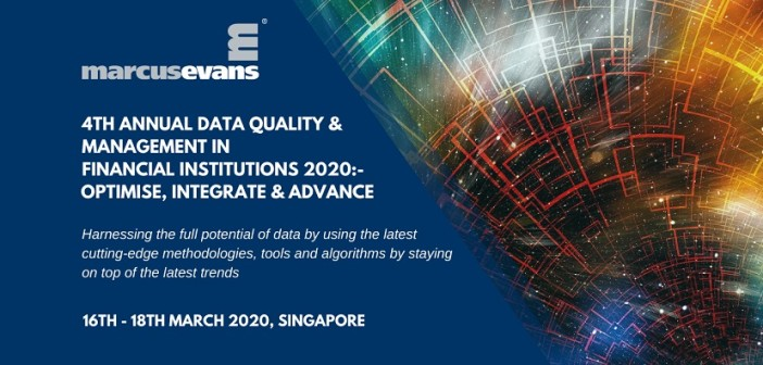 Fourth annual data quality & management conference for financial institutions in APAC